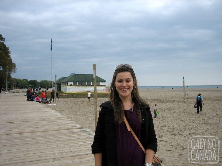 Praia no Rio Ontario