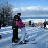 Eu e Ju - meu maior incentivador no ski!