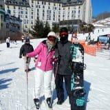 Nós, depois de mais de 5 horas esquiando....