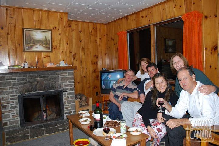 Lareira, família, vinho, friozinho...
