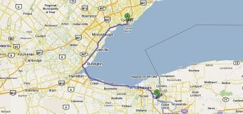 Toronto - Niagara Falls  1h33 minutos - 128km