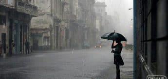 Night time rain weather