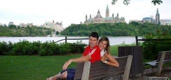 Em 2009, verão em Ottawa (+30C no mínimo)...
