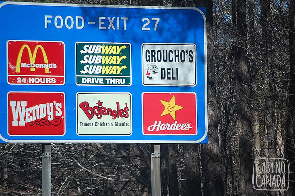 """As opções """"super saudáveis"""" de comida nas roadtrips que fazemos pelos Estados Unidos"""