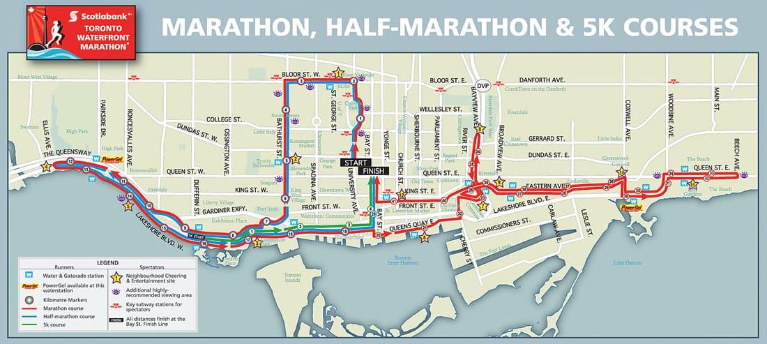 Toronto-Waterfront-marathon-course